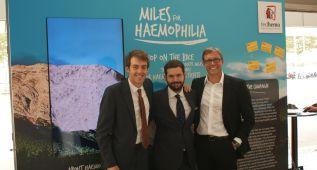 Álex Dowsett pedalea contra la hemofilia en Barcelona