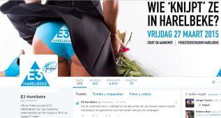 La E3 Harelbeke no ha retirado el cartel de sus redes sociales