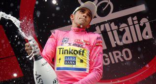 Contador, uno de los 16 ciclistas españoles que vistieron el rosa