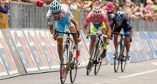 "Tiralongo gana para Astana y Fabio Aru recorta 1"" a Contador"