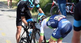 Un pinchazo y una sanción dejan a Porte a 3:09 de Contador