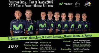 Quintana y Valverde encabezan el Movistar para el Tour