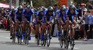 Óscar Sevilla, primer líder de la Vuelta a Colombia