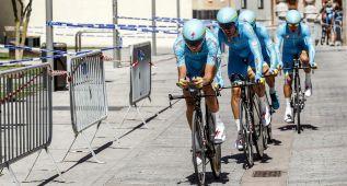 Astana gana la crono y Luis León es nuevo líder en Burgos