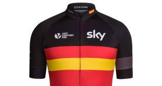 Particular homenaje del Sky a la Vuelta a España