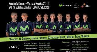 El Movistar presenta sus nueve corredores para la Vuelta