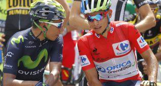 Esteban Chaves y la locura roja colombiana en la Vuelta