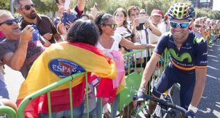 """Valverde: """"No he visto a Froome en todo el día, íbamos delante"""""""