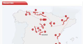 Toda la información sobre las 21 etapas de la Vuelta a España