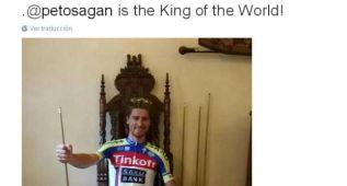 El pelotón se rinde a Peter Sagan en las redes sociales
