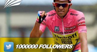 Alberto Contador ya suma un millón de seguidores en Twitter