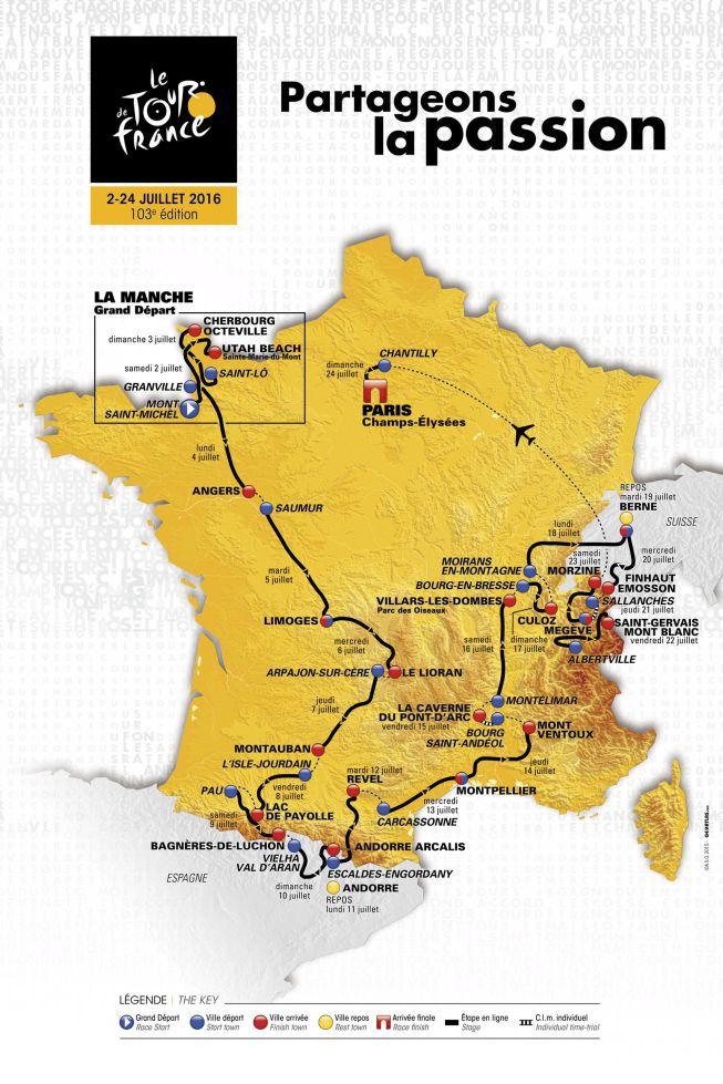 Un recorrido montañoso para el último Tour de Contador