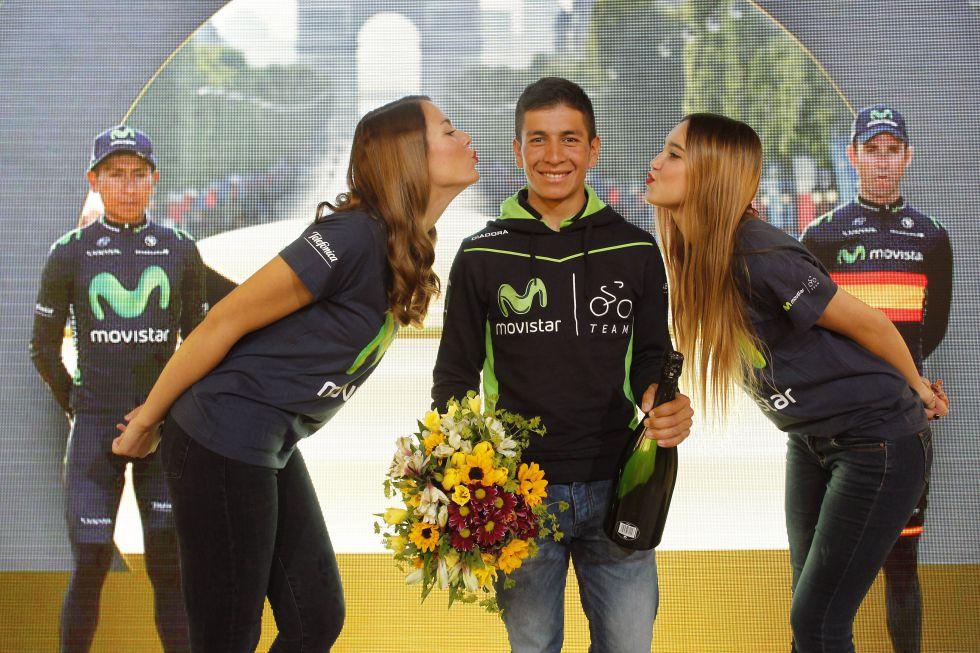 """Dayer: """"Nairo y yo cumplimos un sueño al compartir podio"""""""