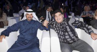 Maradona, amante del ciclismo, estrella invitada en Dubai