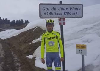 Contador, desde el Joux Plane:
