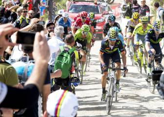 Etapón de Valverde y victoria y maglia rosa para Brambilla
