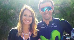 Luis Enrique, un aficionado más en la meta del Giro en Risoul