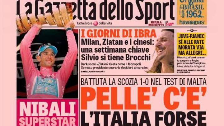La prensa se rinde al 'Tiburón' Nibali tras su victoria en el Giro