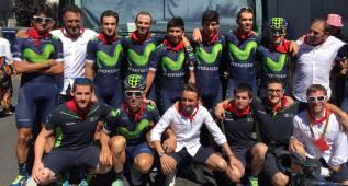 El Movistar se pone el pañuelo de San Fermín en el Tour