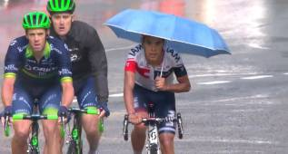 Pantano fue quien cruzó la meta de Arcalís... ¡con un paraguas!