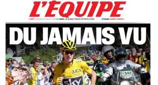 """La prensa recoge la carrera a pie de Froome: """"Lo nunca visto"""""""