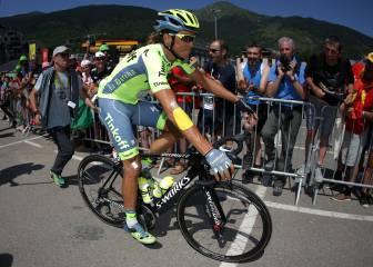 Contador vuelve a subirse a la bici tras el abandono en el Tour