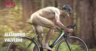 Alejandro Valverde posa desnudo en la revista Quo