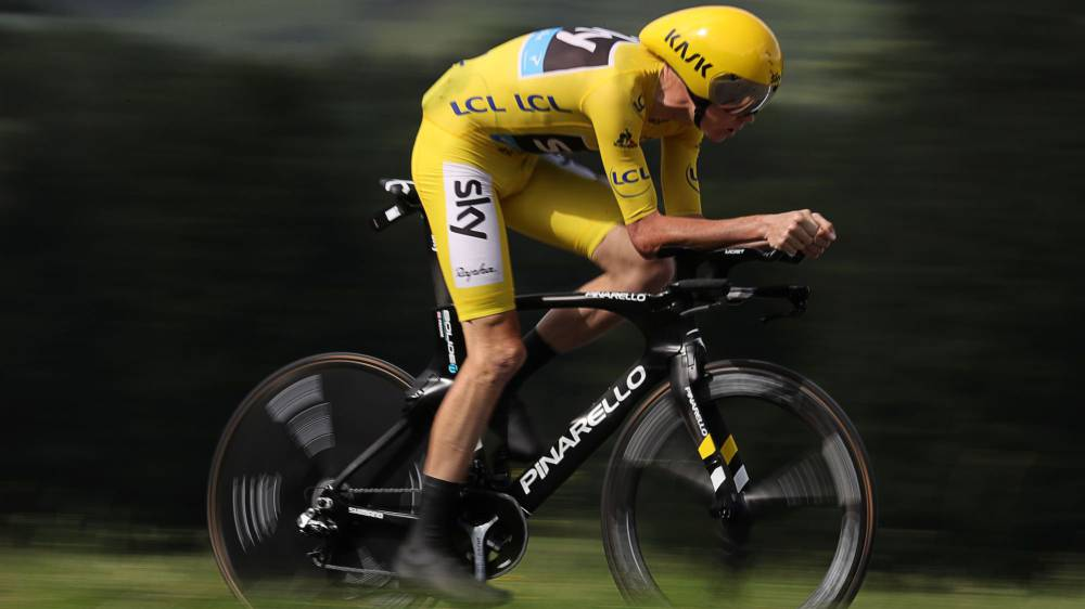 Rivals falter as Chris Froome time trials to second stage win