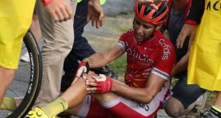 Dani Navarro abandona el Tour tras sufrir una grave caída
