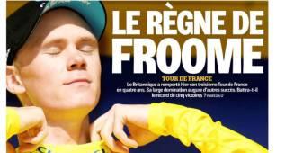 """La prensa se rinde a Froome con su tercer Tour: """"Su reino"""""""