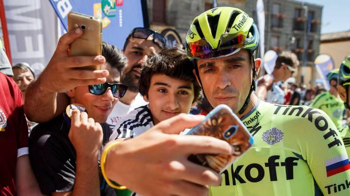 Contador se prueba en Neila en su preparación para la Vuelta
