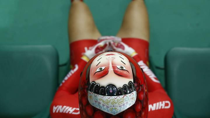Los cascos del equipo chino de ciclismo causan furor en Río