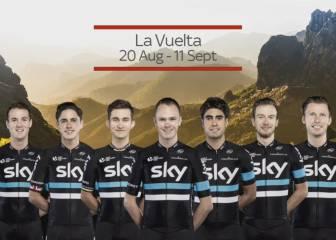 Froome y Landa, al frente del Sky en la Vuelta a España