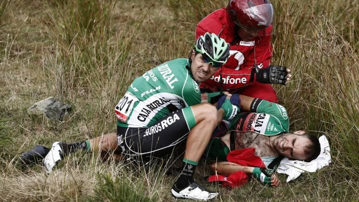 Lluís Mas sufre una luxación de cadera y dice adiós a la Vuelta