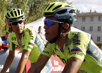 Caída de Alberto Contador en vísperas de La Camperona