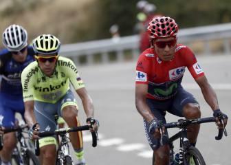 Contador la lía de salida y Nairo Quintana aleja a Froome