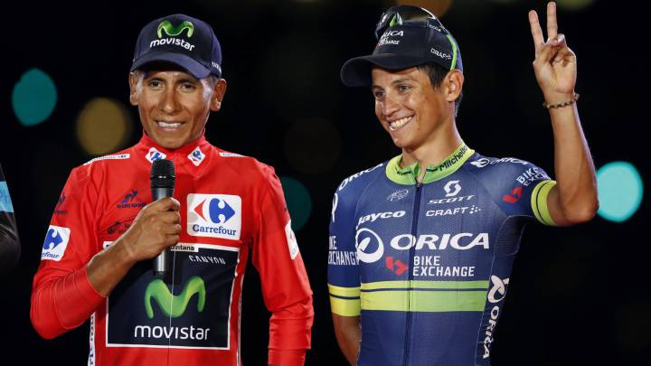 La prensa colombiana se rinde a Nairo y Chaves tras la Vuelta