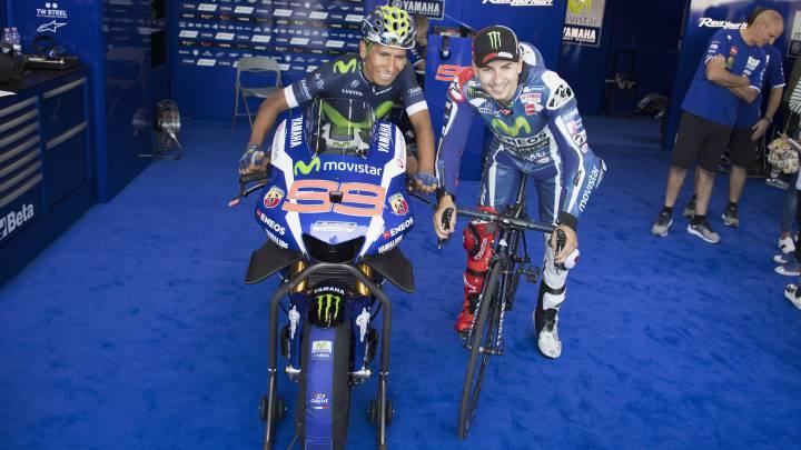 Quintana y Valverde visitan a Lorenzo y a Rossi en Aragón