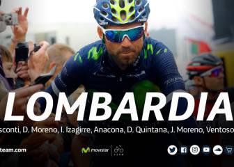 Valverde y Dani Moreno, bazas de Movistar en Lombardía