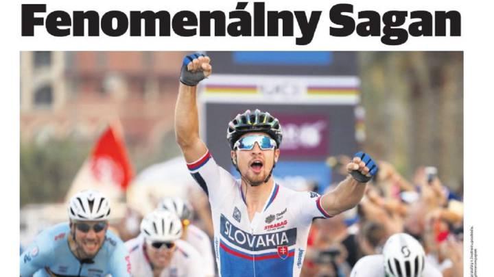 La prensa se rinde a Peter Sagan tras su segundo Mundial