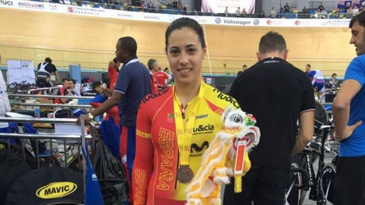 Tania Calvo, medalla de bronce en velocidad