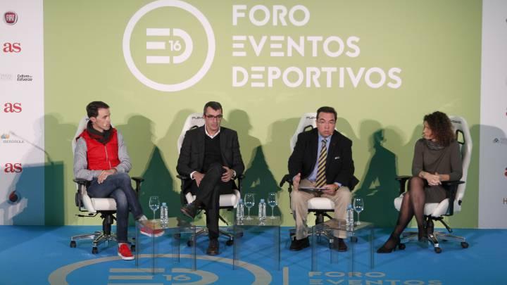 Samuel Sánchez, Javier Guillén, Antonio Lacasa y Carolina de la Calzada, en el Foro Eventos Deportivos 2016 de AS.
