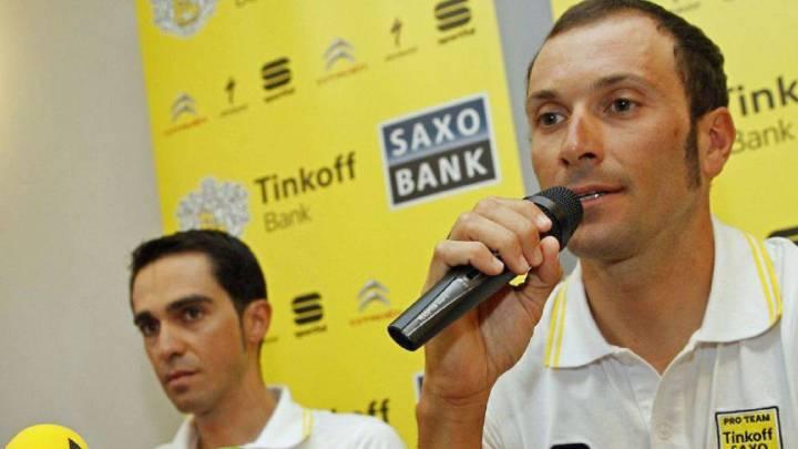 Basso defiende a Contador en su conflicto con Tinkov
