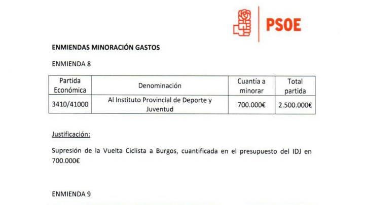 Rechazan la propuesta del PSOE de eliminar la Vuelta a Burgos
