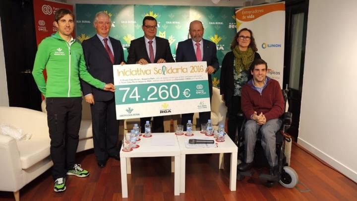 Caja Rural-Seguros RGA dona 74.260 € a Trainers Paralímpicos