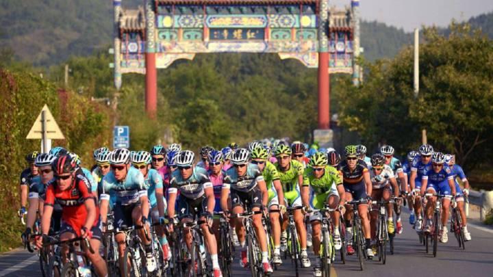 Imagen de archivo de una etapa del Tour de Pekín