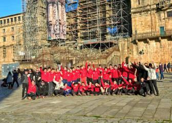 La Fundación Alberto Contador termina el Camino de Santiago