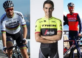 Los ciclistas muestran su nueva piel: Contador, Sagan, Nibali...