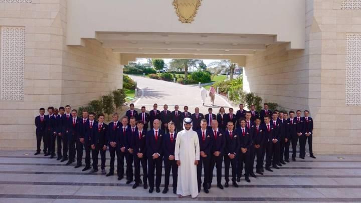 El Bahrain-Merida se presenta a lo grande ante su príncipe