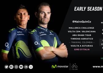 Movistar confirma a Nairo para el Giro; Valverde, a las Clásicas